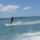 Like a pro..at Maratei Beach by Kim Edmonds