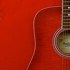 Red Guitar by Doug Cook