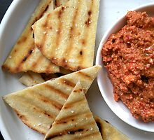 Muhammara - Red Pepper, Walnut & Pomegranate Dip  by MsGourmet