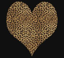 Cheetah Heart T-Shirt by simpsonvisuals