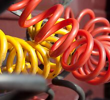 Red and yellow power cable by leenvdb