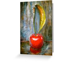 Cherries.. One Alone Greeting Card