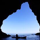 kayaker in Cave by Vince Gaeta