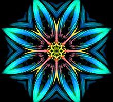 Must Be Dreaming - Interplanetary Flower  by Rhonda Strickland
