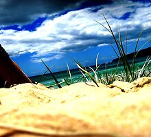 Aqua beach scene by zwhite