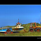 Tired Tractor at Spurn Point. by Neil Clarke