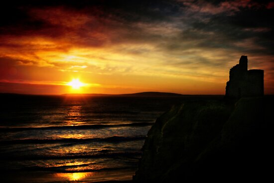 Ballybunion Castle Sunset by Polly x