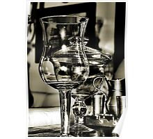 Glass and Pewter Poster
