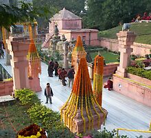 Lost Inside the MahaBodhi Complex by Angie Spicer