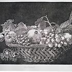 Basket with fruits by Dietrich Moravec