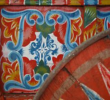 Ox Cart Wheel detail, Costa Rica by Guy Tschiderer