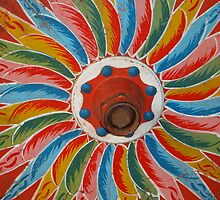 Ox Cart Wheel detail, Costa Rica, shot 1 by Guy Tschiderer