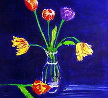 Tulips in Vase by gilbertlamm