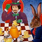 Mad Hatter and March Hare&#x27;s tea party by whiterabbitart