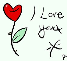 I Love you by stitchgrin