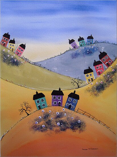 Houses on the Hills by FrancesArt