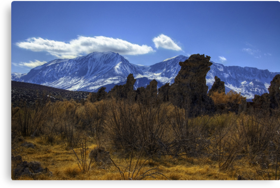 Tufa Towers and the Sierras by Justin Mair