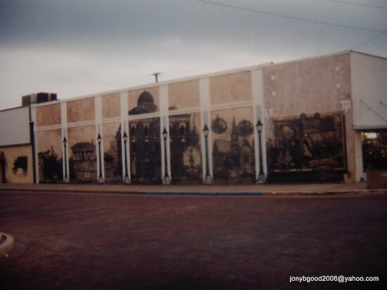 History of Seymour Texas Mural by Billy Ines