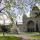 Old Exhibition Buildings and Carlton Gdns, Melbourne by BronReid