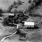Aerial view of the Wolfe Family Sheep Farm by Liz Wolfe