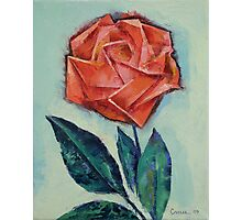 Origami Rose Photographic Print