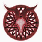 evil pentagram goat head by Randle