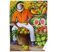 Manuel the Caribbean Fruit Vendor Poster