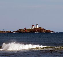 Nubble Lighthouse in the Distance by Monica M. Scanlan