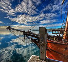 Tall Ship at Geelong Harbor by Akif  Kaynak