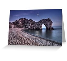 Moonlight Over Durdle Door Greeting Card