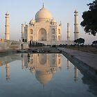 Sunrise at the Taj,Agra by chitrali