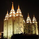 Salt Lake Temple - Winter Night by Ryan Houston