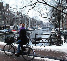 Warm ears in cold Amsterdam by jchanders
