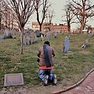 Praying? No, Taking a Photo in Boston, Massachusetts by Susan Russell