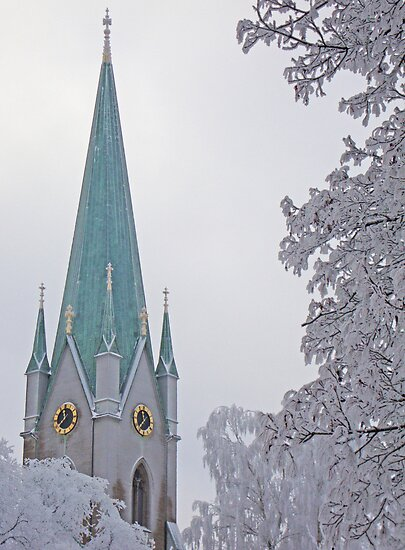 The cathedral in Linköping, Sweden. by Paola Svensson