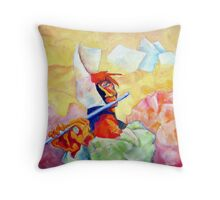 WHISTLING IN THE WIND Throw Pillow
