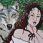 grey wolf by: lady hokasai  www.myspace.com/408344536 by artists4wildlfe