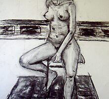 seated woman 2 by Jeremy Wallace
