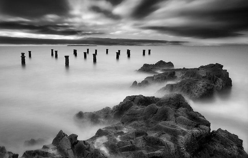 Old Pier Stumps II by Robert Kendall