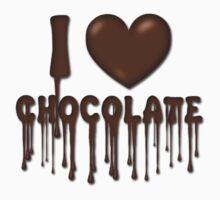 I Love Chocolate T-Shirt by Linda Allan
