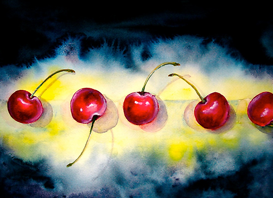 Cherries...The Line-Up by © Janis Zroback