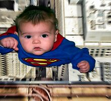 Baby dressed as Superman by RayDevlin