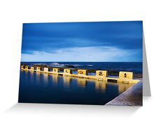 Merewether Ocean Baths at Night Greeting Card
