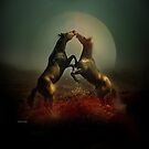 Horses at Dusk by Laudanum Maryluxe