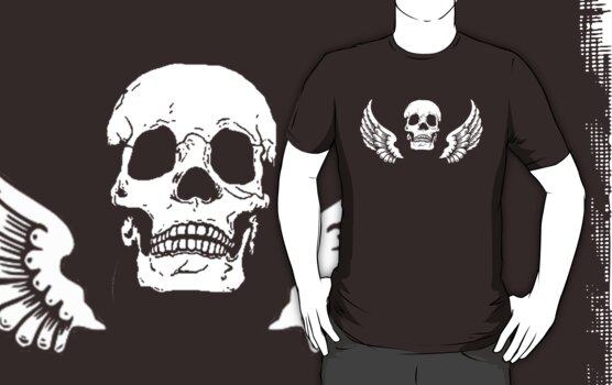 winged skull by ralphyboy