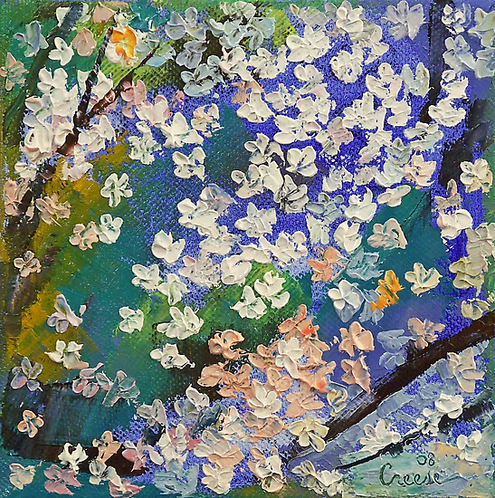 Sakura Oil Painting by Michael Creese