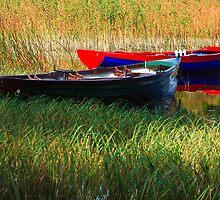 Fishing Boats Resting by EUNAN SWEENEY
