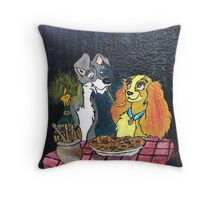 """""""And They Called It Bella Notte"""" Throw Pillow"""