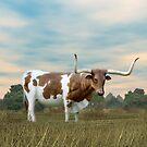 Texas Longhorn by Walter Colvin
