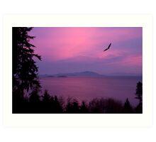 Sunrise Over the Strait Art Print